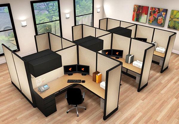 офисные кабинки-кубиклы